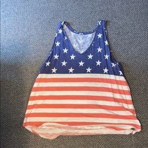 Old navy American flag tank